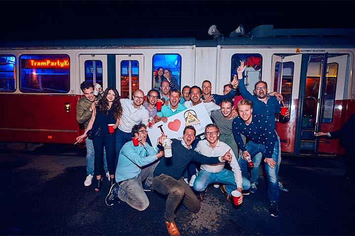 wieczór kawalerski tramwajem w krakowie